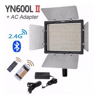 Iluminador Led Yongnuo Yn-600l Ii 2 + Fonte + Bluetooth