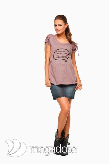 T-shirt Petit Lilás P/g 40/44 - Moda Gestante Megadose