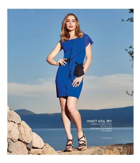 Ropa Mujer Vestido Formal Azul V18 89