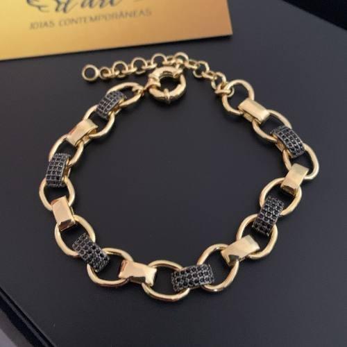 Pulseira Feminina Luxo Folheada Ouro 18k Com Garantia 1 Ano