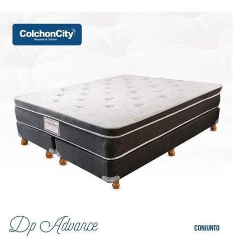 Colchon Sommier De 140x190 - 2 Plazas Advance Colchoncity