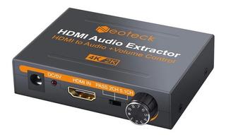 Extractor Audio Hdmi A Rca Toslink Auricular Control Volumen