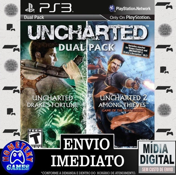 Uncharted Dual Pack 2 Em 1 - Psn Ps3