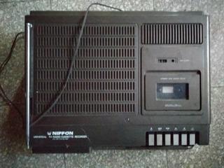 Tv Radio Cassette Recorder Nippon Japan Portatil Vintage