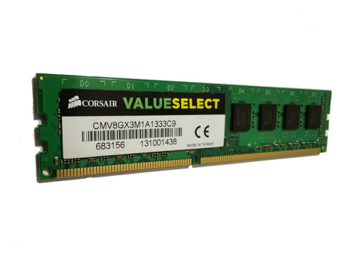 Memoria RAM 8GB 1x8GB Corsair CMV8GX3M1A1333C9 Value Select
