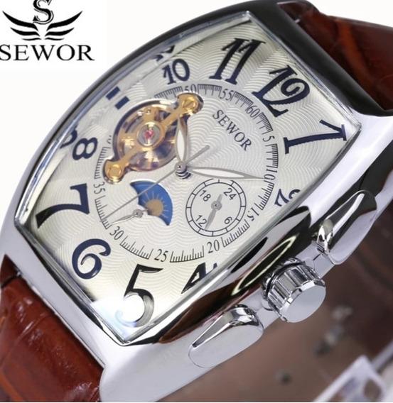 Relógio Automático Retangular Pronta Entrega 24hrs Luxo C.26