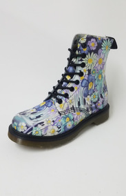 Borcego Dr Martens Flores Lilas Mujer