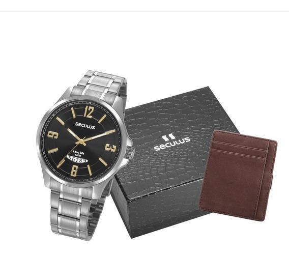 Relógio Seculus Masculino Prata 77031g0svna2 Para Todos
