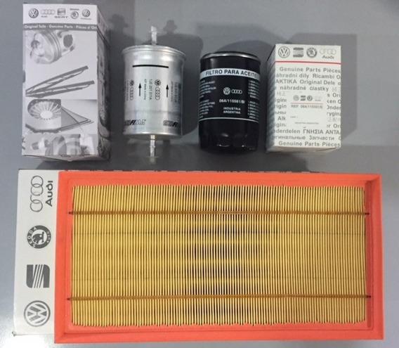 Kit De Filtros De Volkswagen Bora Nafta Motor 1.8 - 2.0 ( Aire Aceite Combustible ) Repuestos Originales
