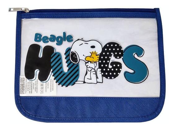 Necessaire Snoopy Sp3907 Azul