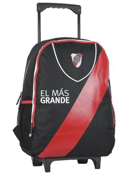 Mochila River Plate Carrito Colegio Original Lic Oficial