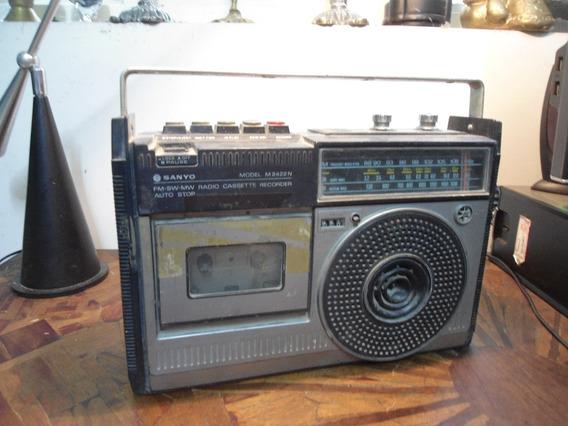 Radio Toca Fitas Sanyo M2422n - Para Reparo Ou Peças