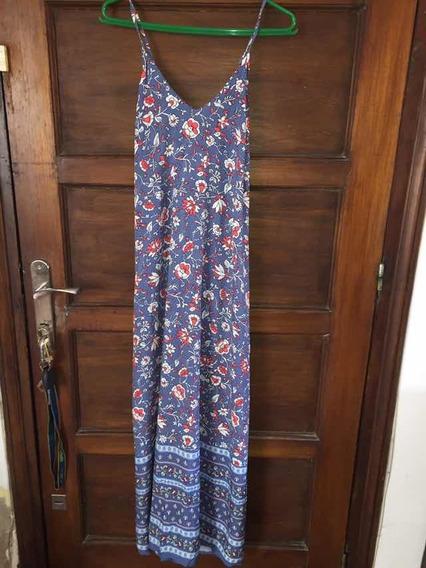 Vestido Largo Estampado Old Navy Talle M