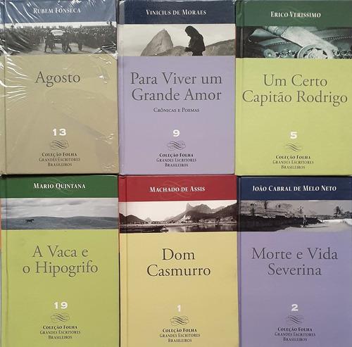 Coleção Folha Grandes Escritores Brasileiros - 6 Livros