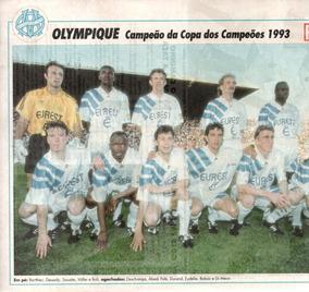 Olympique Campeão Da Copa Dos Campeões 1993 - Pôster