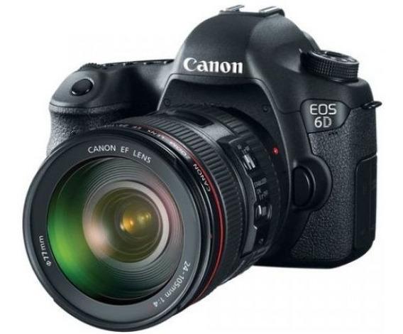 Câmera Canon 6d Com Lente 24-105mm + Filtros + Tripé Magnus