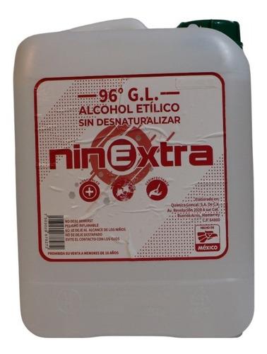 Imagen 1 de 10 de Alcohol Etílico Del 96° Alta Pureza Sin Desnaturalizar.