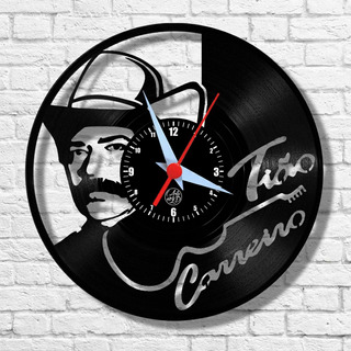 Tião Carreiro Cantor Artista Relógio Vinil Parede Lp