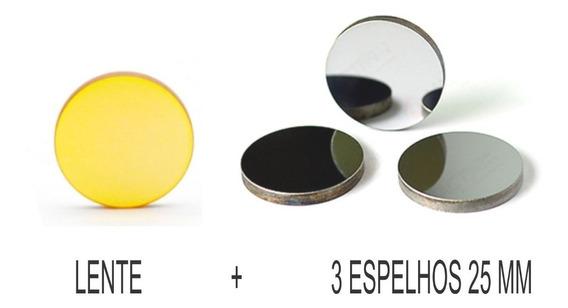 Kit Lente 20 Mm Df 63.5 Mm + Espelho Corte A Laser Lente Usa