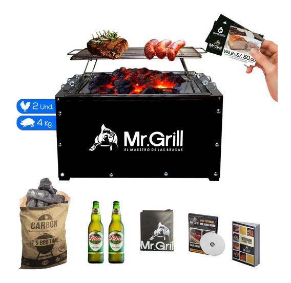 Mr. Grill - Caja China Estandar+ Parrilla+carbon + Cervezas