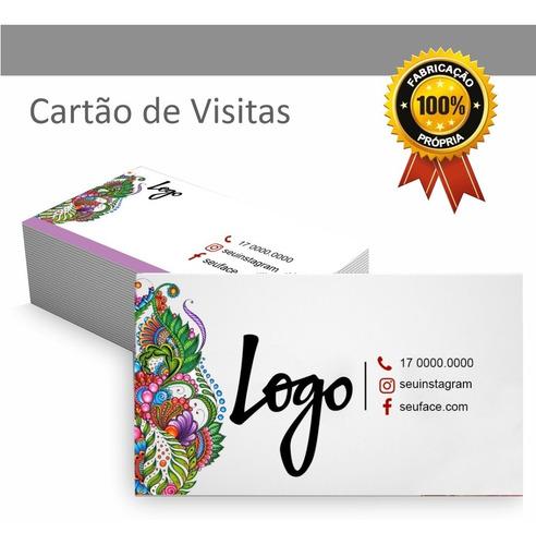 Imagem 1 de 4 de Cartão De Visita Frente Colorida 500 Unid. Arte Inclusa