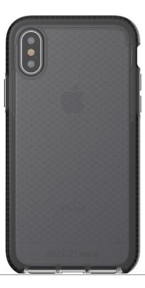 Funda iPhone X Tech21 Evo Check Smokey Negra