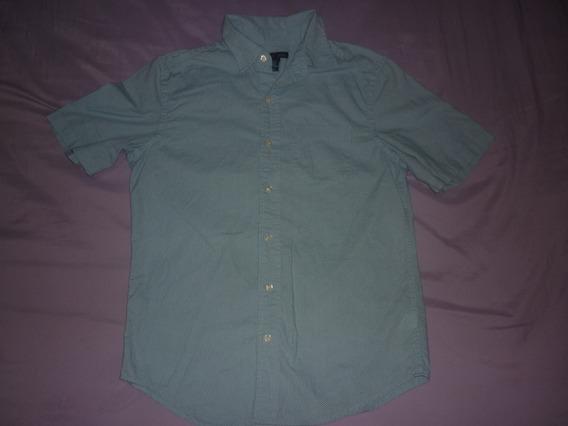 E Camisa Gap Slim Fit Talle Xs Celeste Art 14685