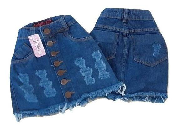 10 Saias Jeans Feminina Mininas Cintura Alta Hot Pant 2019