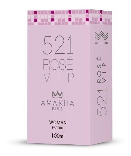 Perfume Feminino 521 Rose Vip Amakha Paris - Imperdível!!!