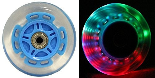 Ruedas Led Scooter Con Cojinetes Abec 9 Para Scooters Razor