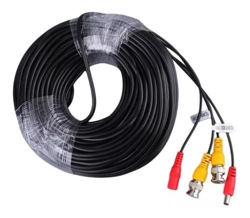 Cable 50 Metros Para Cámaras Dvr Cctv Negro Armado Clicshop