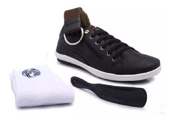 Sapatênis Masculino Ped Shoes Casual Ziper Lateral Kit