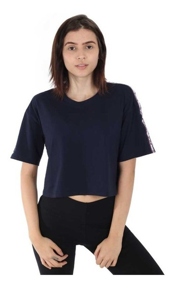 Blusa Fila Cropped Taped Feminina - Original