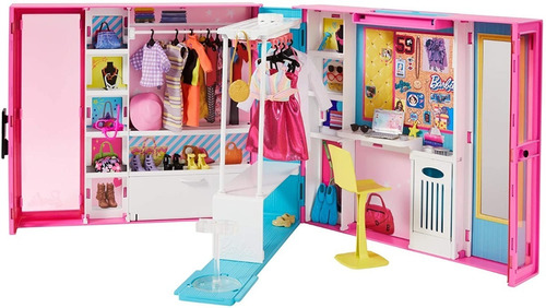 Barbie Dream Closet Fashionistas De Lujo + Accesorios