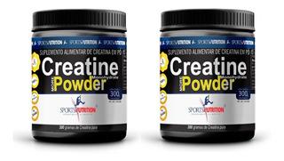 Creatina Pure Micronized Powder 2x300gramas Sports Nutrition