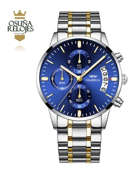 Relógio Masculino Luxo Original Dourado Prata Pronto Envio