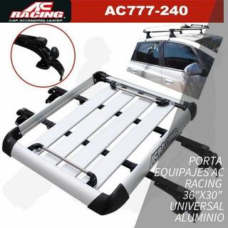 Canasta Ac Racing Aluminio Universal 36x30 Nueva Y Sellada