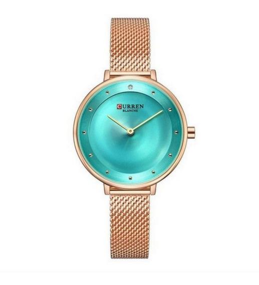 Relógio Feminino Curren Analógico C9029l Cor Rosê
