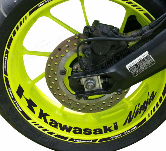 Friso + Adesivo Interno P1 Roda Moto Kawasaki Zx-10r Zx10r
