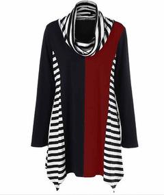 Vestido Feminino Blusa Blusão Lycra Importado 486