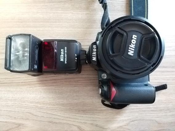 Camera Profissional Nikon D90 + 2 Lentes + Flash