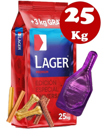 Imagen 1 de 4 de Lager Adulto 22 + 2kg(24kg) + Pipeta + Biscrok