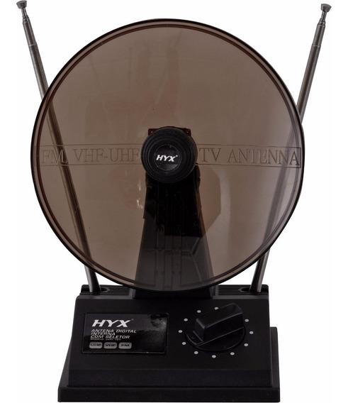 Antena Uhf/vhf/fm Interna Uvfi-101 Preta Hyx Tv Digital