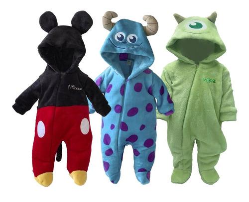 Kit 3 Mamelucos Disney Mickey, Sulley, Mike A Precio De 2