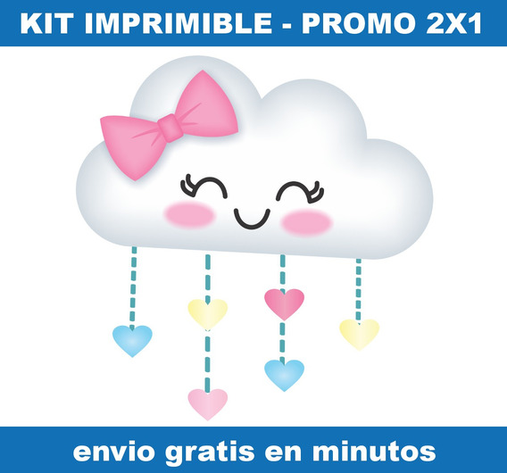 Kit Imprimible Lluvia De Amor Candy Bar Promo 2x1