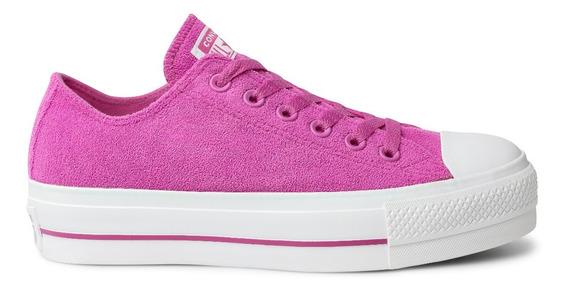 Tênis Converse All Star Plataforma Cano Baixo Rosa Pink 1196 Original