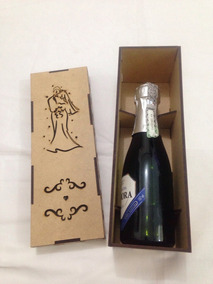 30 Caixas Porta Vinho Champagne Casamento Convite Padrinhos