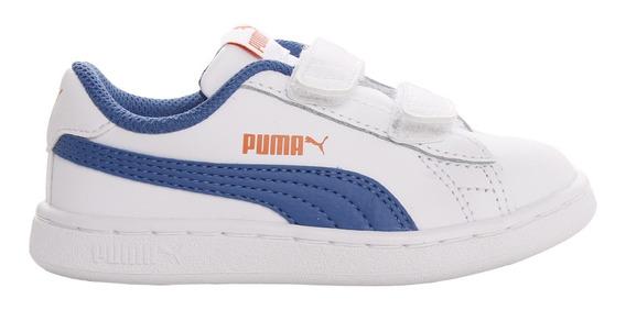 Zapatillas Puma Moda Smash V2 L V Inf Bebe Bl/az