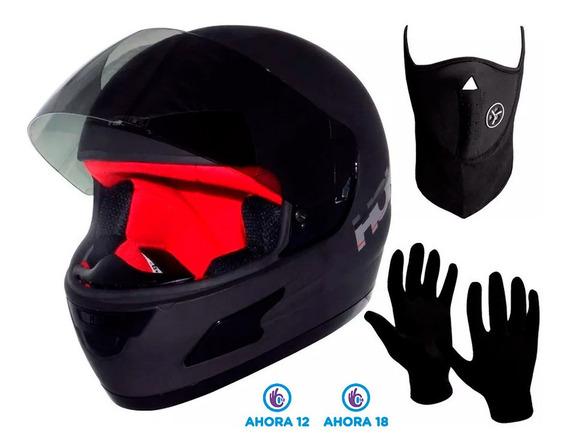 Casco Moto Vertigo Hoken + Guantes + Mascara Regalo - 12cuo