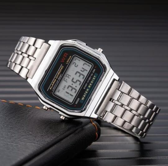 Relógio Vintage Crianças Pequeno Prata Lindo Exclusivo